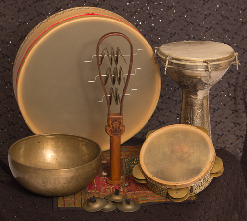Various hand percussion instruments